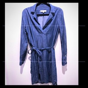 Loft Chambray Wrap Dress
